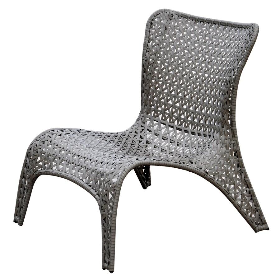 Garden Treasures Tucker Bend Black Steel Seat Woven Patio Chairs