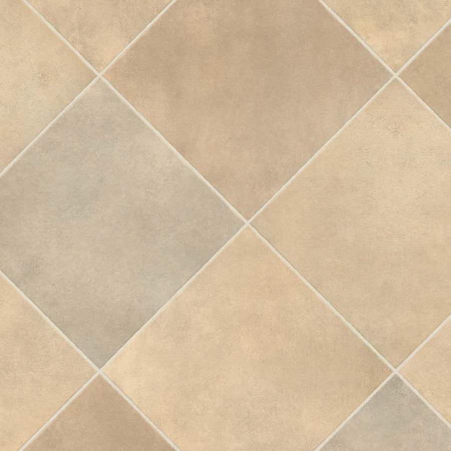 IVC 13.167-ft W Durango 933 Tile Low-Gloss Finish Sheet Vinyl