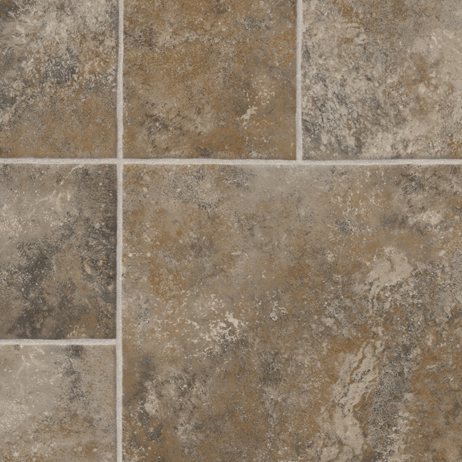 IVC 13.167-ft W Denver 960 Tile Low-Gloss Finish Sheet Vinyl