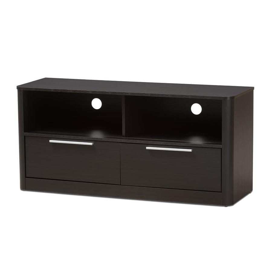Espresso Baxton Studio TV Stand 3-Drawers
