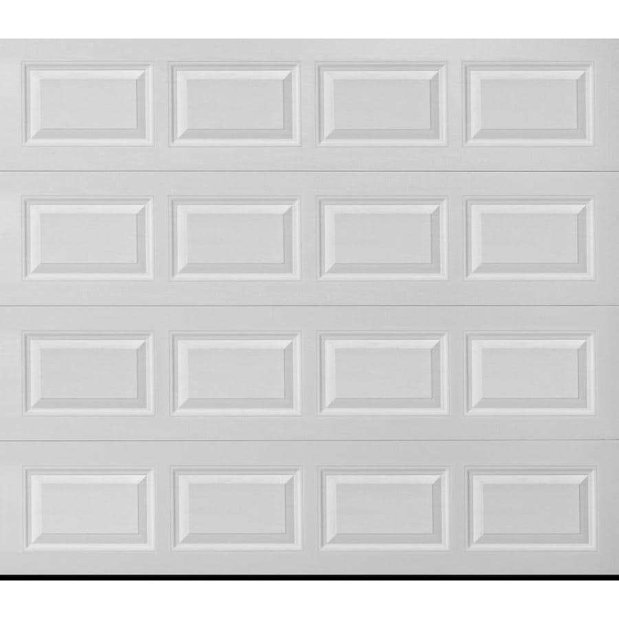 ReliaBilt Traditional Series 96-in x 84-in White Single Garage Door