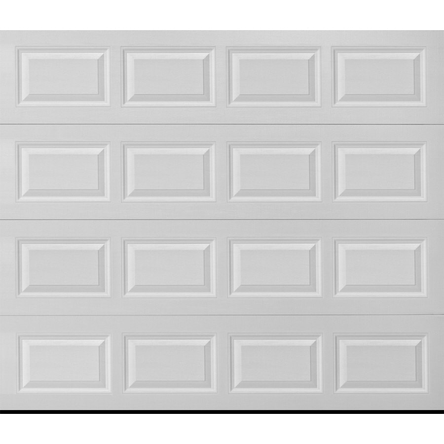 ReliaBilt Traditional Series 96-in x 84-in Insulated White Single Garage Door with Windows