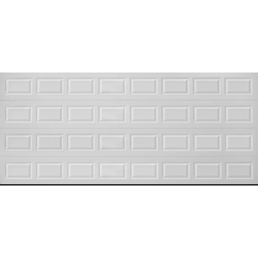 Traditional Series 192-in x 84-in Insulated White Double Garage Door Product Photo