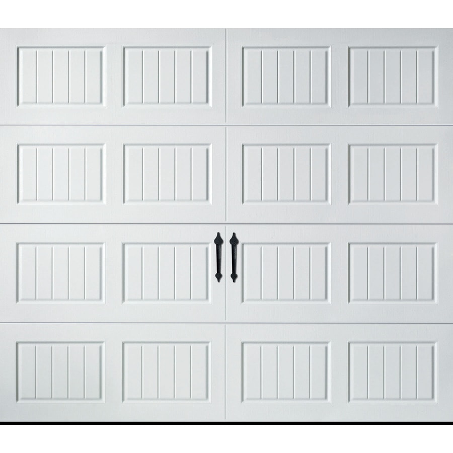 Pella Carriage House Series 108-in x 84-in Insulated White Single Garage Door