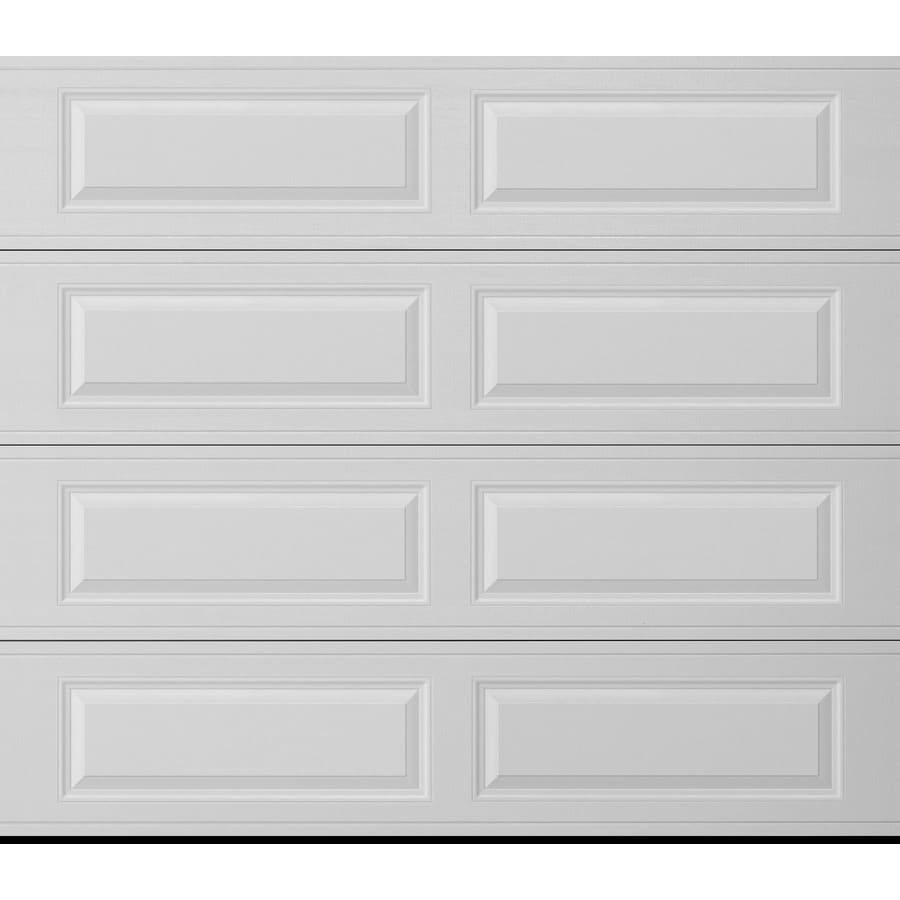 Pella Traditional Series 96-in x 84-in Insulated White Single Garage Door