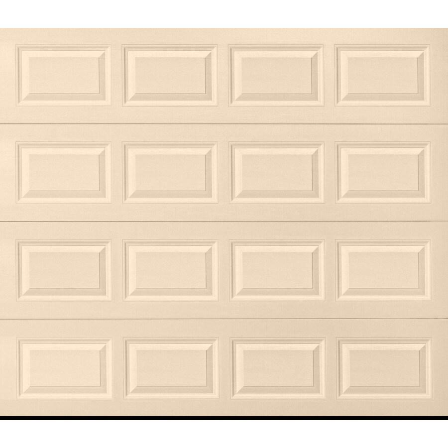 Pella Traditional Series 96-in x 84-in Insulated Almond Single Garage Door