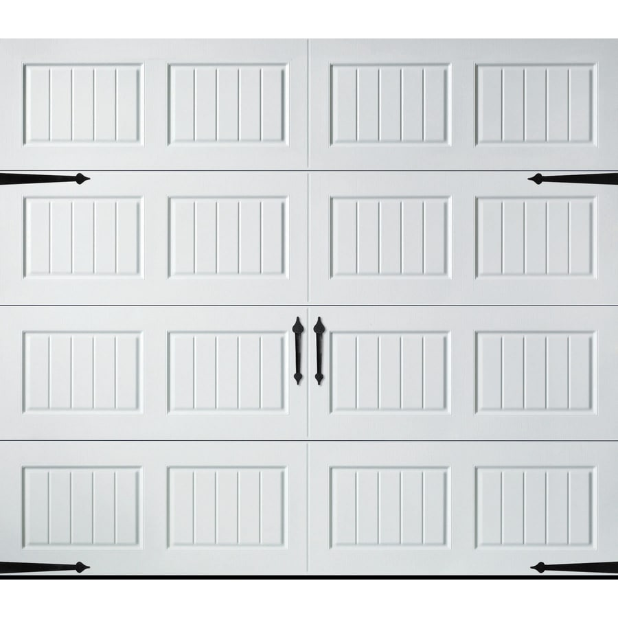 Carriage House Series 108-in x 84-in Insulated White Single Garage Door Product Photo