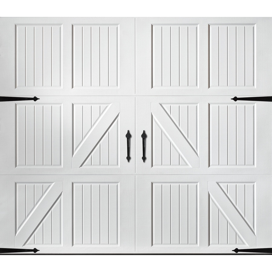 Carriage House Series 96-in x 84-in White Single Garage Door Product Photo