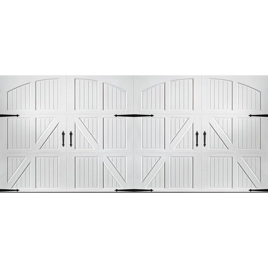 Pella Carriage House Series 192-in x 84-in White Double Garage Door