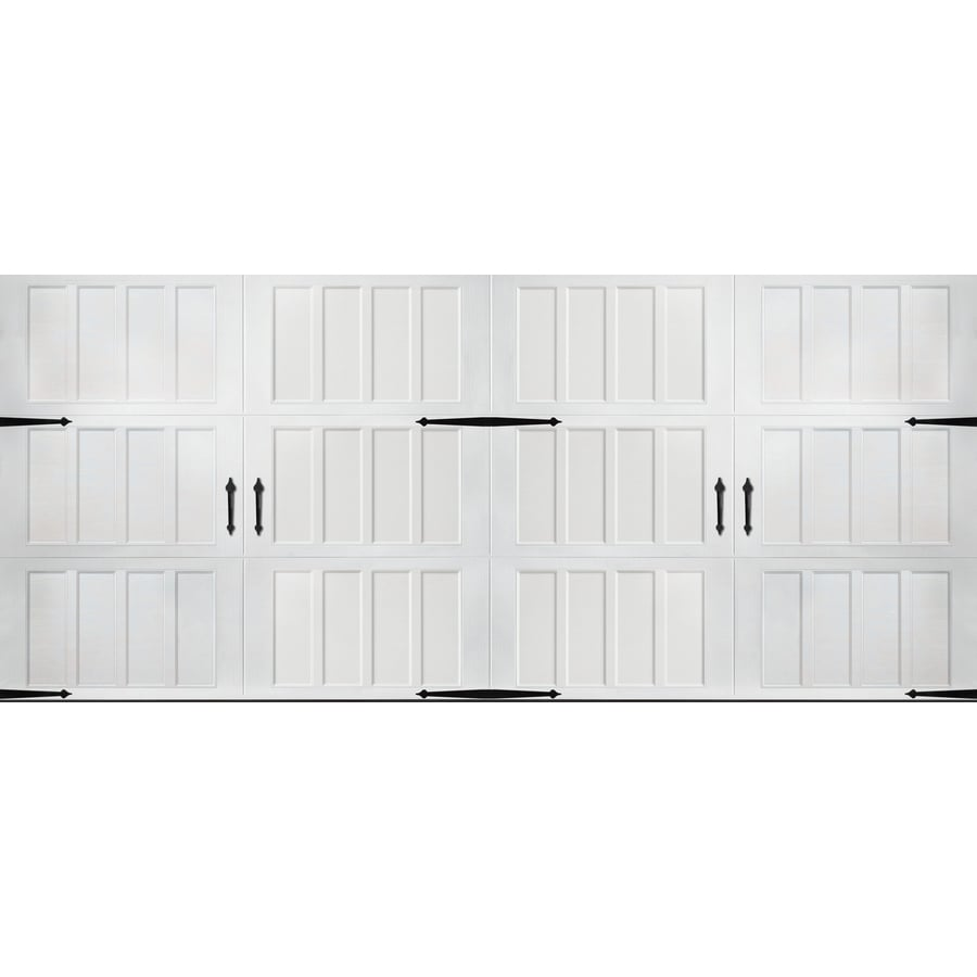 Pella Carriage House Series 192-in x 84-in Insulated White Double Garage Door
