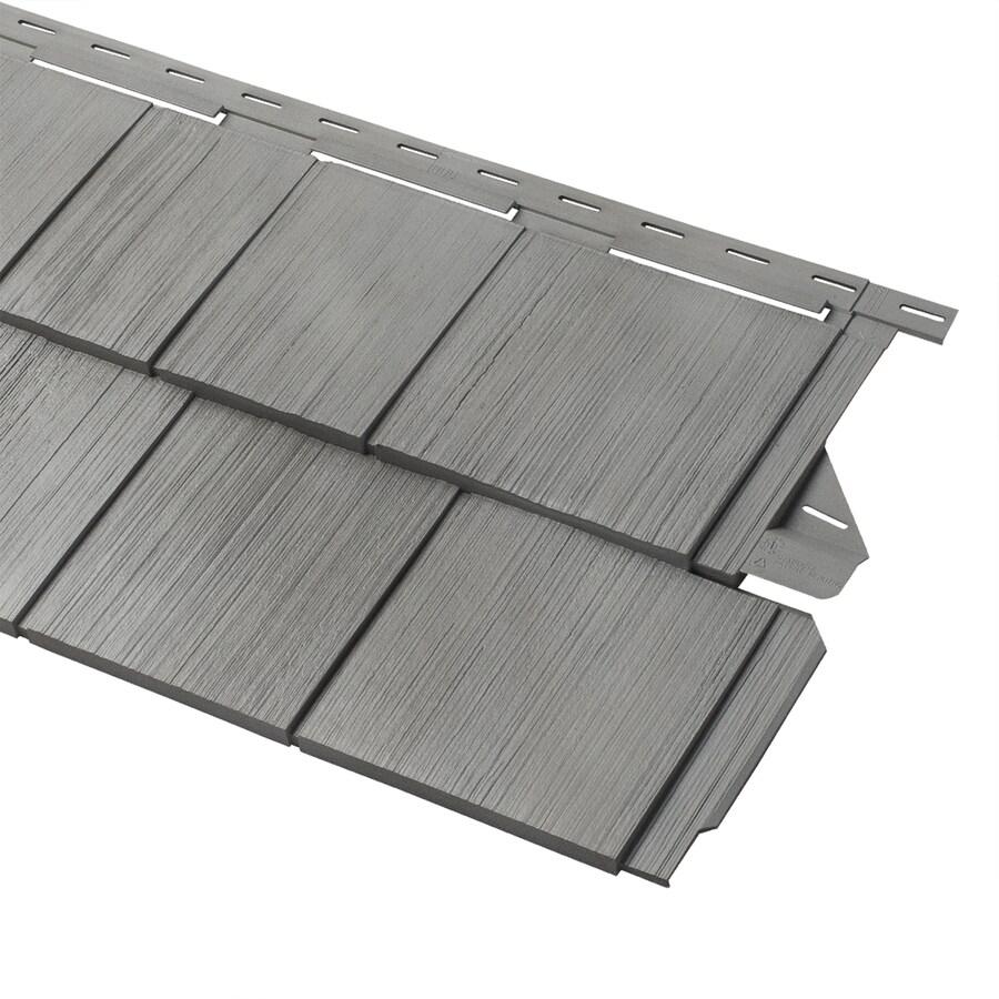 Georgia-Pacific Vinyl Siding Cedar Spectrum 15.5-in x 54.625-in Shaded Gray and Wood Grain Perfection Shake Vinyl Siding Panel