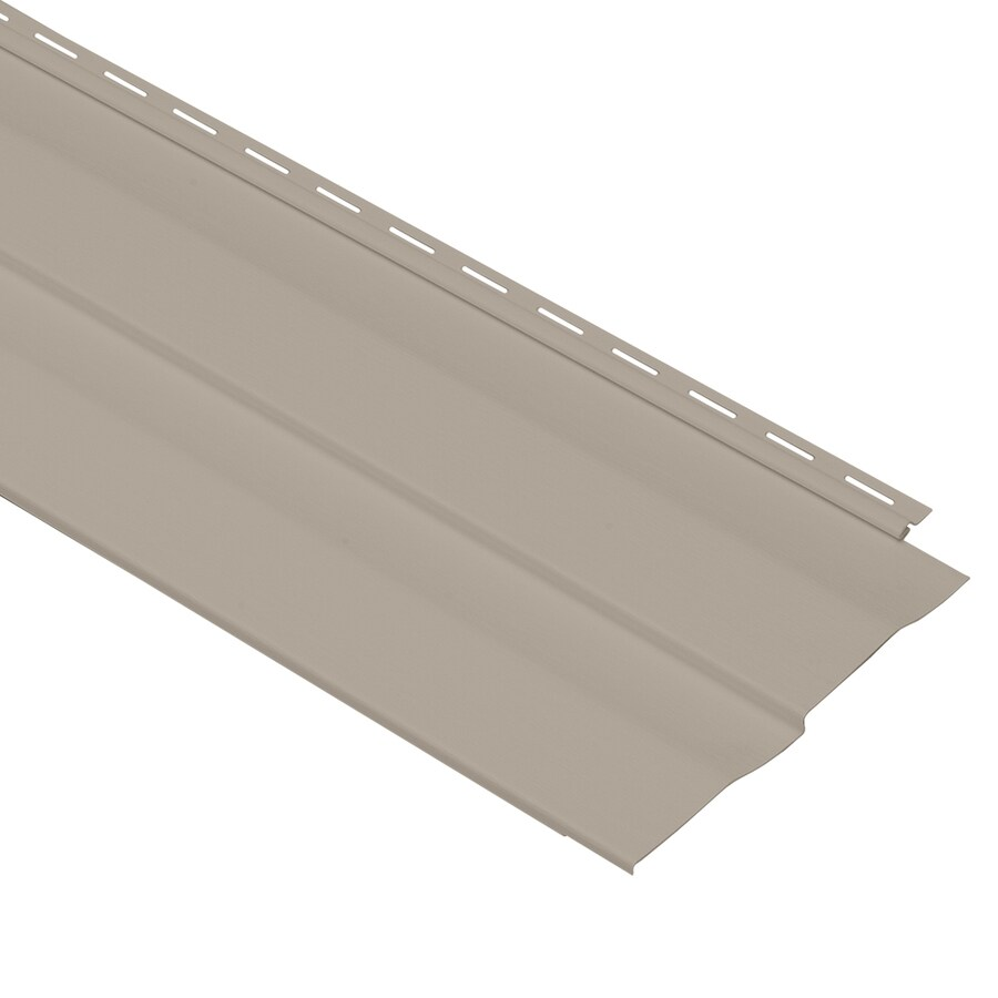 Georgia-Pacific Vinyl Siding Shadow Ridge 10-in x 144-in Clay and Wood Grain Double 5 Dutch Lap Vinyl Siding Panel