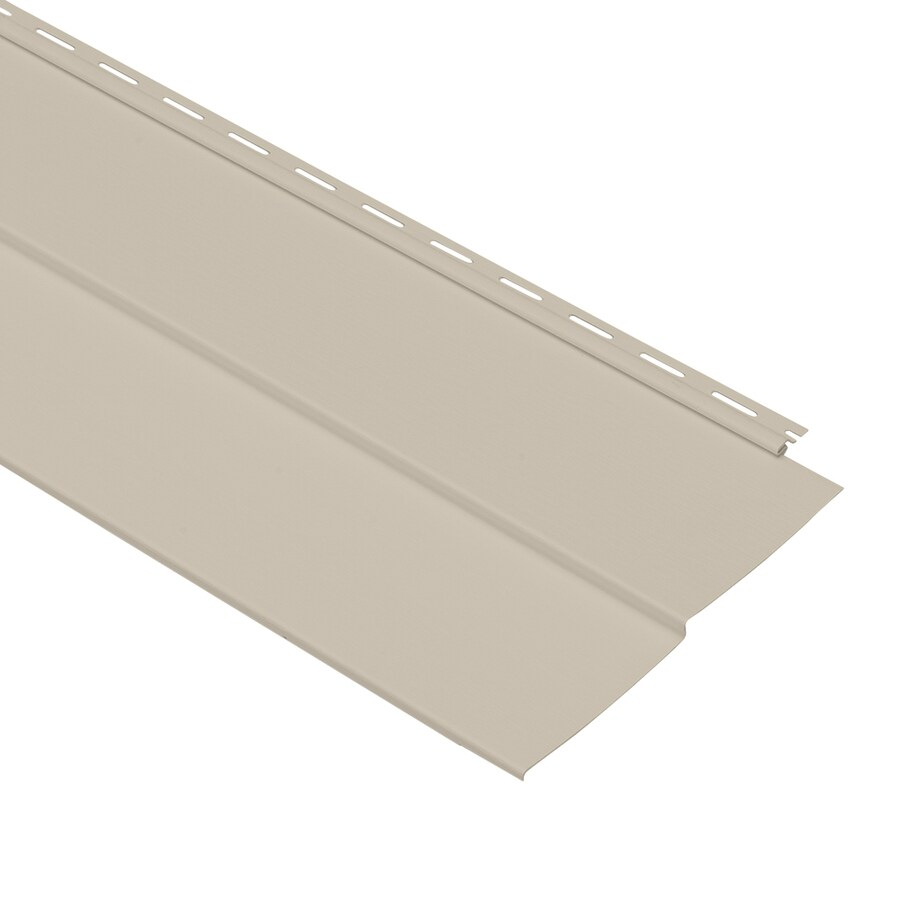 Georgia-Pacific Vinyl Siding Forest Ridge 10-in x 144-in Tan and Wood Grain Double 5 Traditional Vinyl Siding Panel