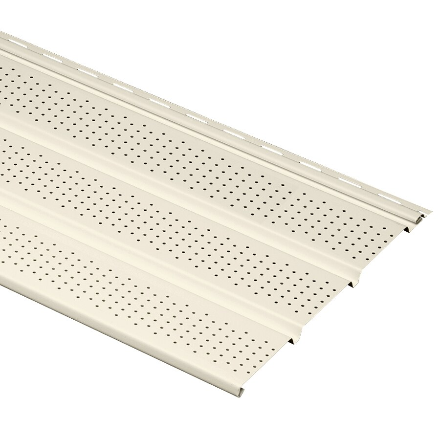 Georgia-Pacific Vinyl Siding 12-in x 144-in Pearl/Pebble Soffit
