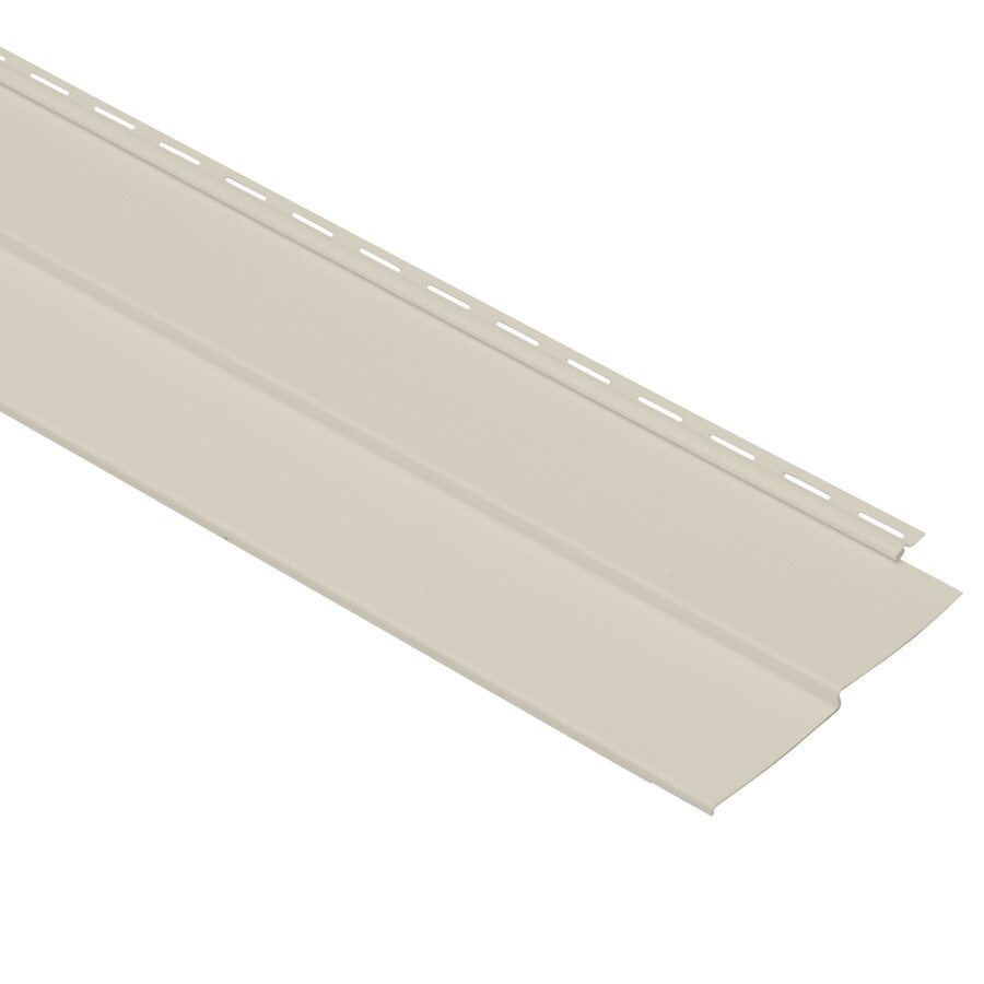 Georgia-Pacific Vinyl Siding Vision Pro 8-in x 150-in Almond Wood Grain Double 4 Traditional Vinyl Siding Panel