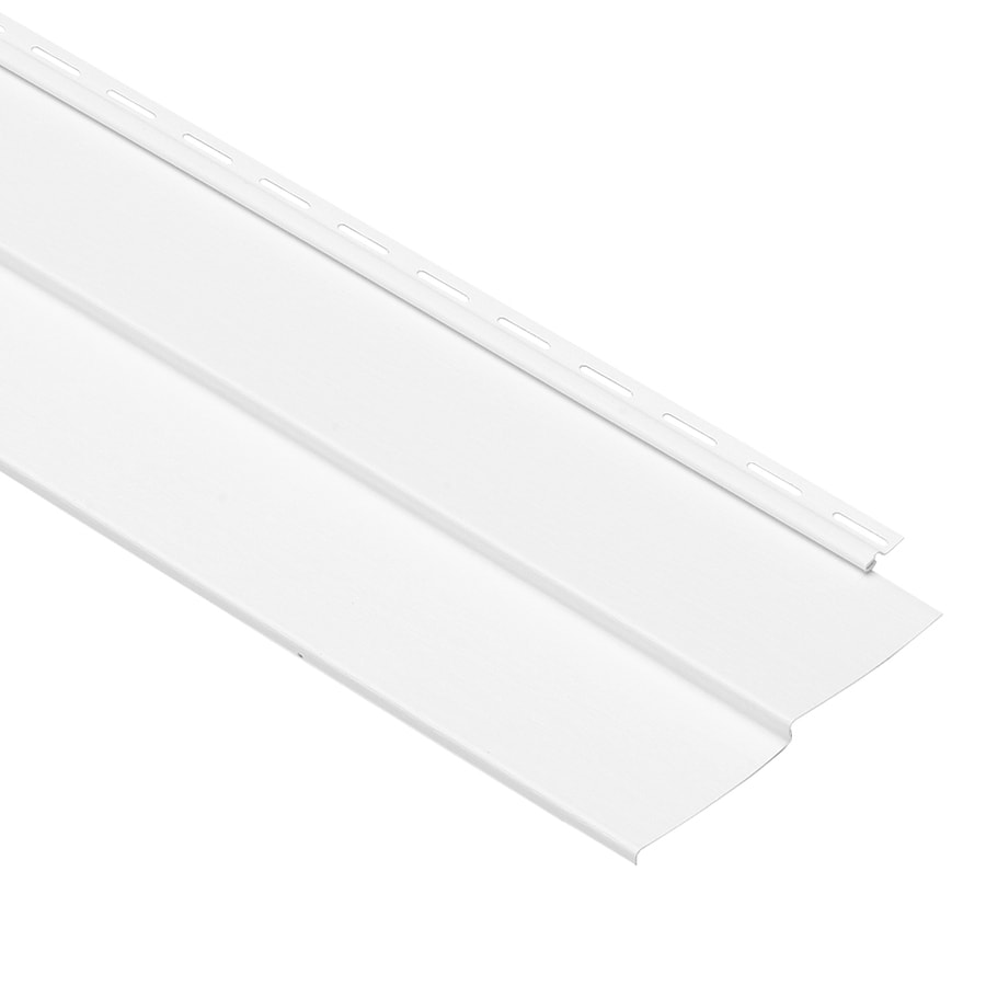 Georgia-Pacific Vinyl Siding Forest Ridge 8-in x 150-in White and Wood Grain Double 4 Traditional Vinyl Siding Panel