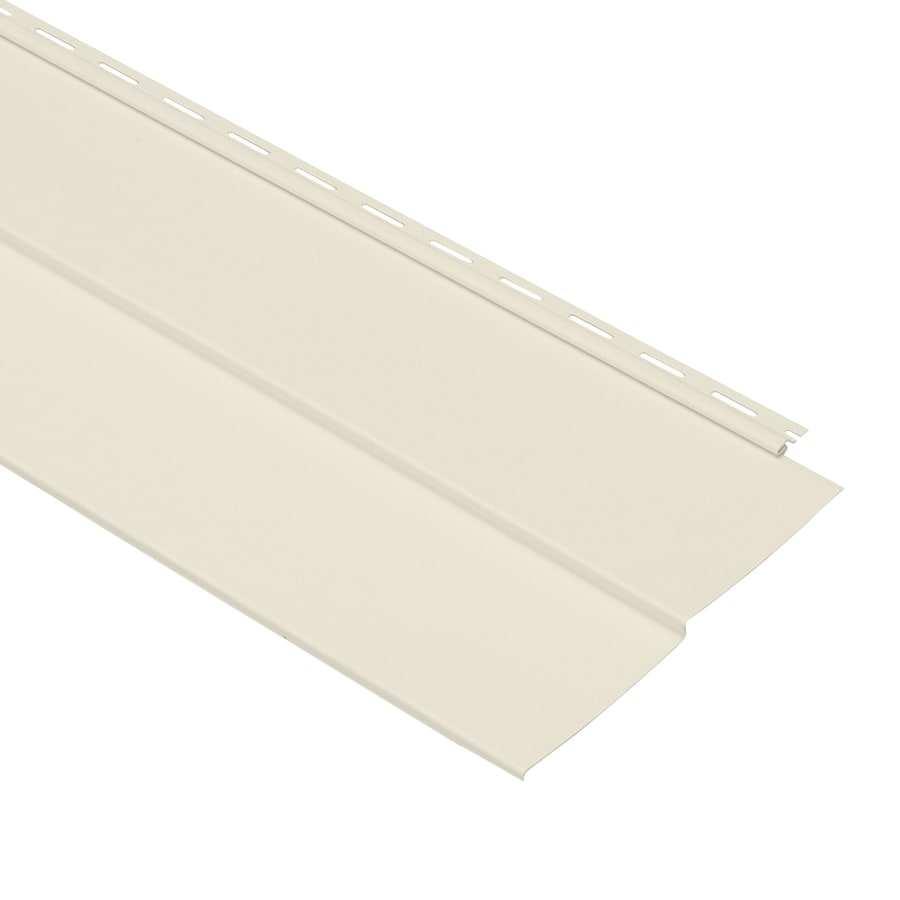 Georgia-Pacific Vinyl Siding Forest Ridge 10-in x 144-in Cream and Wood Grain Double 5 Traditional Vinyl Siding Panel
