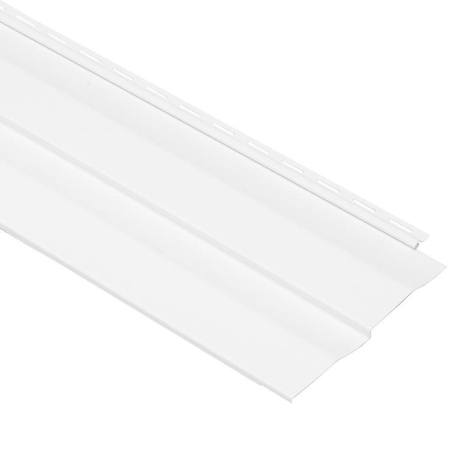 Georgia-Pacific Vinyl Siding Shadow Ridge 10-in x 144-in White and Wood Grain Double 5 Dutch Lap Vinyl Siding Panel