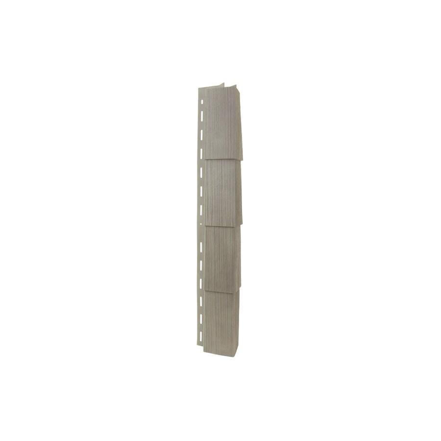 Georgia-Pacific Vinyl Siding 3.5-in x 29.125-in Shaded Gray Woodgrain Outside Corner Post Vinyl Siding Trim