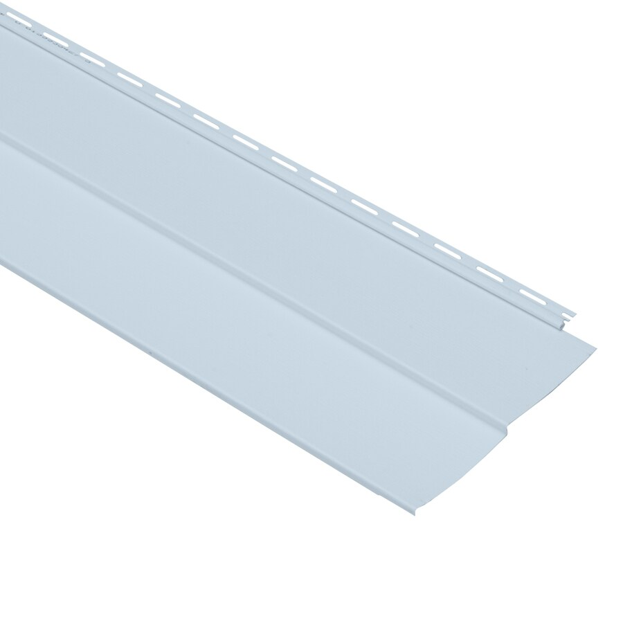 Georgia-Pacific Vinyl Siding Vision Pro 10-in x 144-in Blue Wood Grain Double 5 Traditional Vinyl Siding Panel