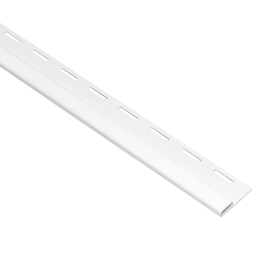 Georgia-Pacific Vinyl Siding 0.375-in x 150-in White/Pebble Undersill Vinyl Siding Trim