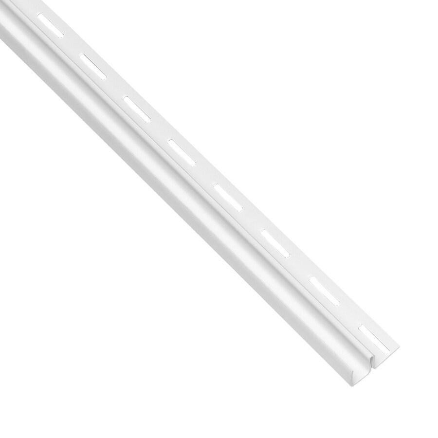 Georgia-Pacific Vinyl Siding 0.5-in x 150-in White/Pebble F-Trim Vinyl Siding Trim