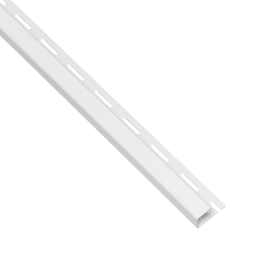 Georgia-Pacific Vinyl Siding 0.625-in x 150-in White/Pebble J-Channel Vinyl Siding Trim