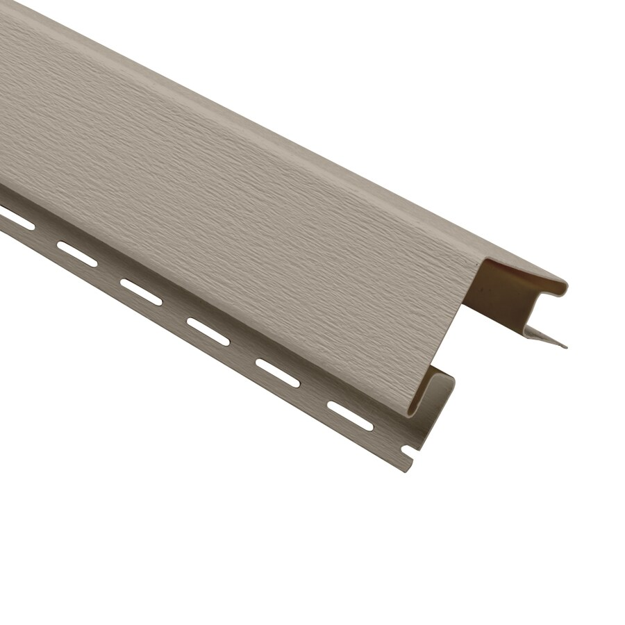Georgia-Pacific Vinyl Siding 3-in x 120-in Clay Woodgrain Outside Corner Post Vinyl Siding Trim