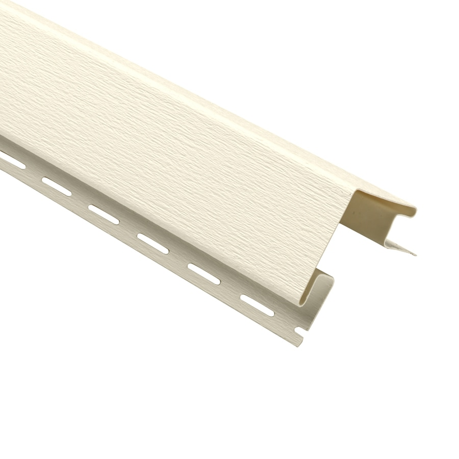 Georgia-Pacific Vinyl Siding 3-in x 120-in Cream Woodgrain Outside Corner Post Vinyl Siding Trim