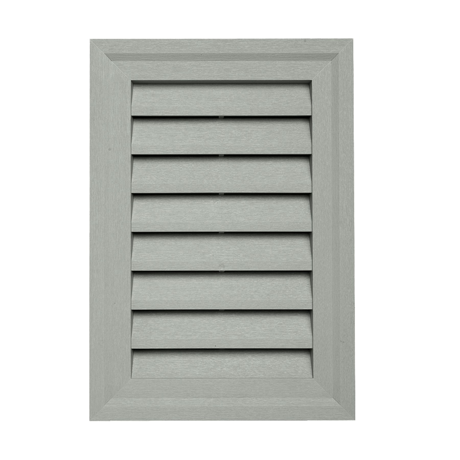 15-in x 10.5-in Thistle Rectangle Vinyl Gable Vent