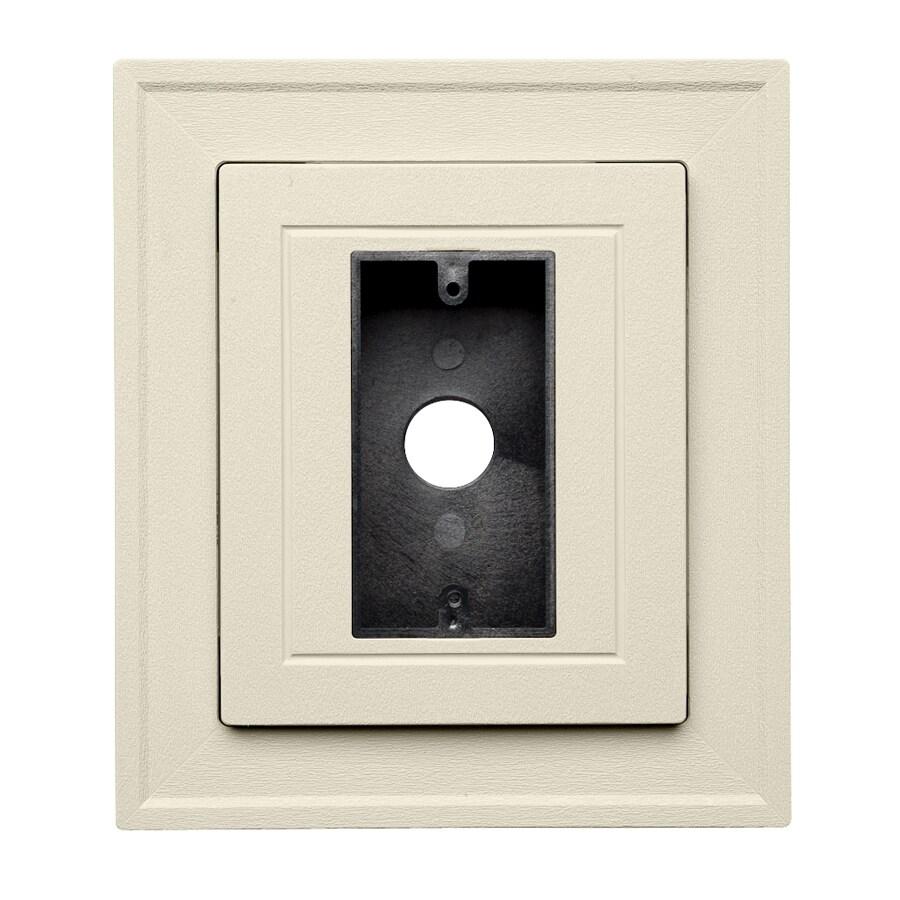 8.5-in x 7.5-in Cream Vinyl Universal Mounting Block
