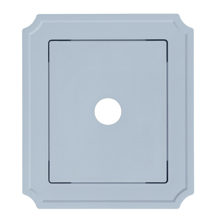 8.54-in x 7.52-in Blue Vinyl Universal Mounting Block