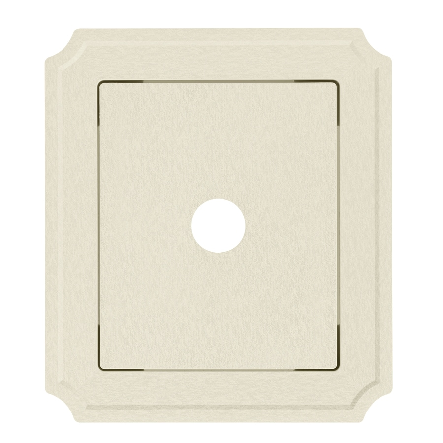 8.54-in x 7.52-in Cream Vinyl Universal Mounting Block
