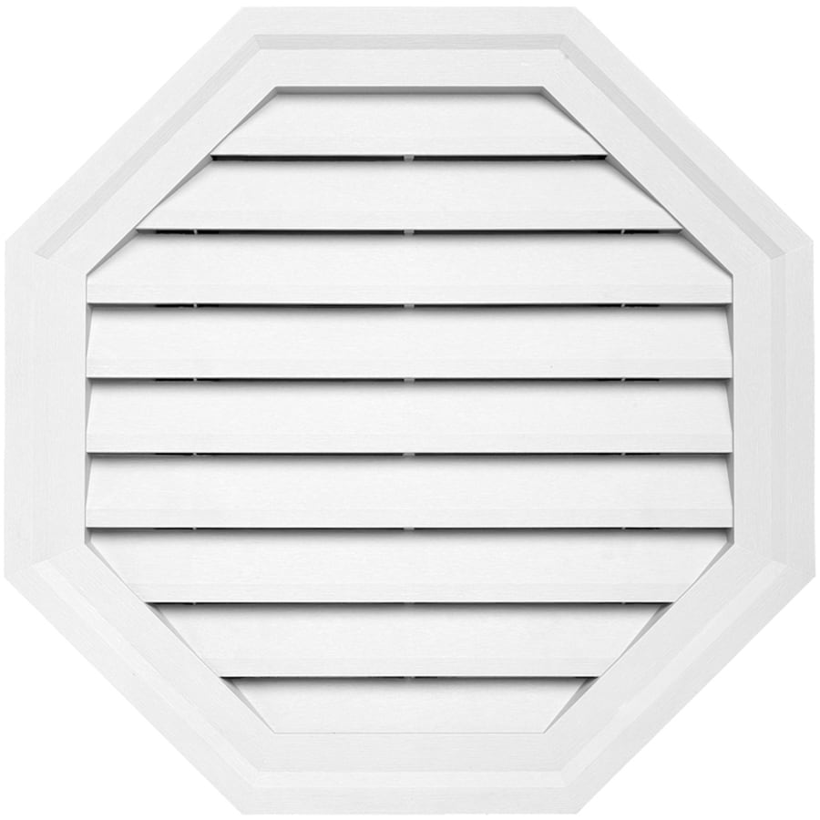 Shop 10 In X 12 5 In White Octagon Vinyl Gable Vent At