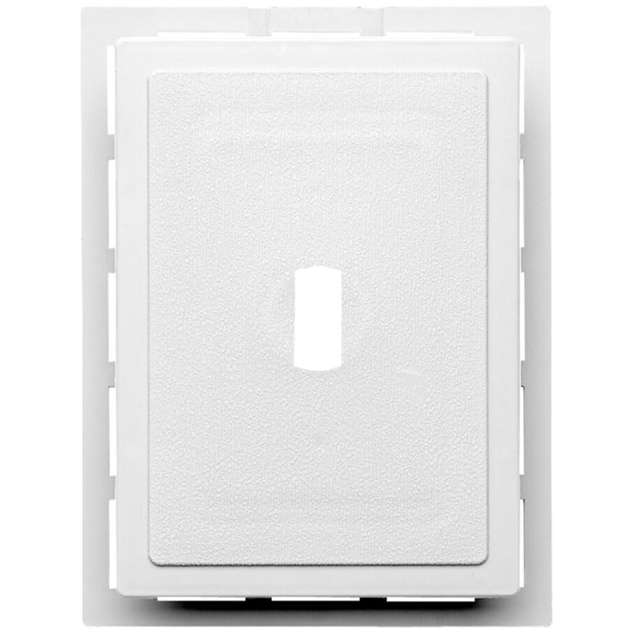 6-in x 0.875-in White Vinyl Universal Mounting Block
