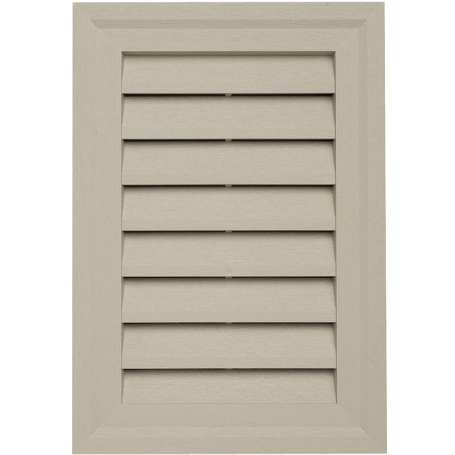 15-in x 10.5-in Northern Oak Rectangle Vinyl Gable Vent