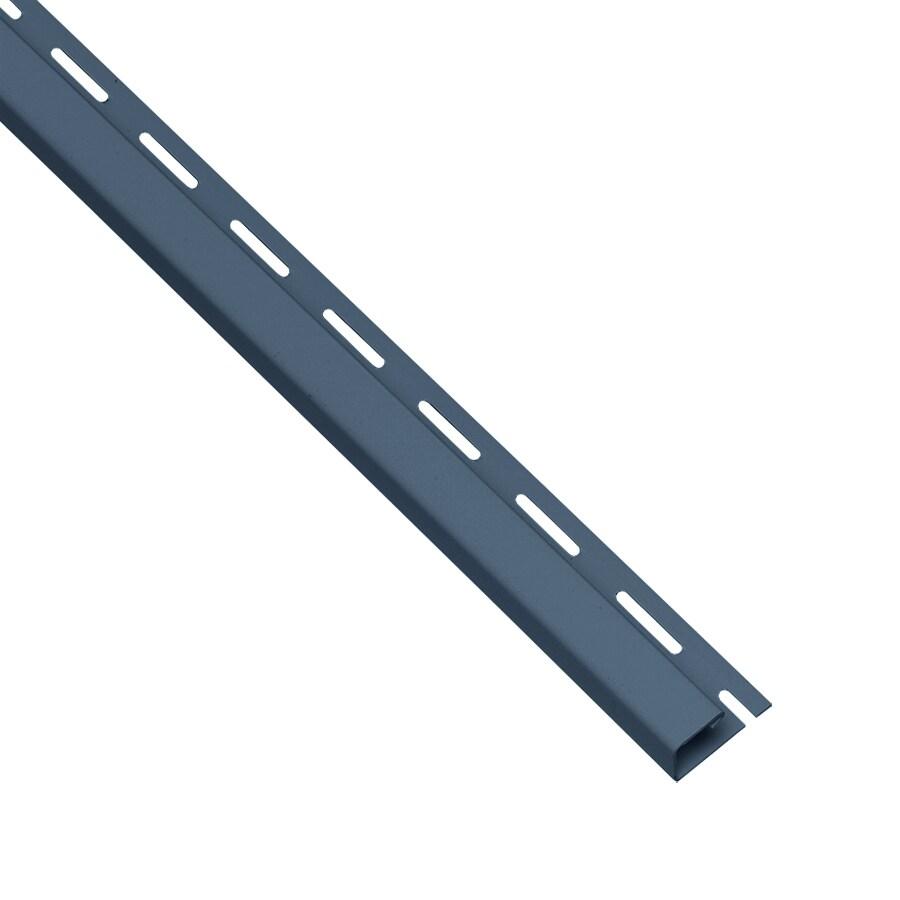 0.625-in x 150-in Bayou Blue/Pebble J-Channel Vinyl Siding Trim