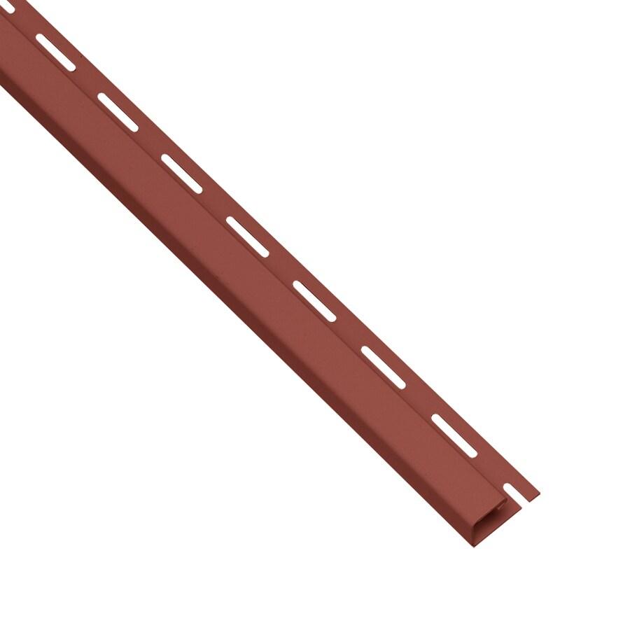 0.625-in x 150-in Hampton Red/Pebble J-Channel Vinyl Siding Trim