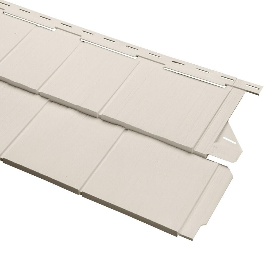 Cedar Spectrum 15.5-in x 54.625-in Pearl and Wood Grain Perfection Shake Vinyl Siding Panel