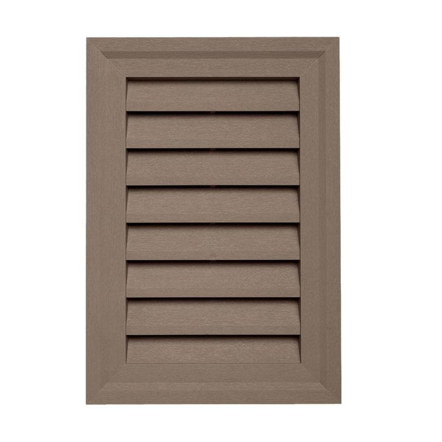 15-in x 10.5-in Hearthstone Brown Rectangle Vinyl Gable Vent