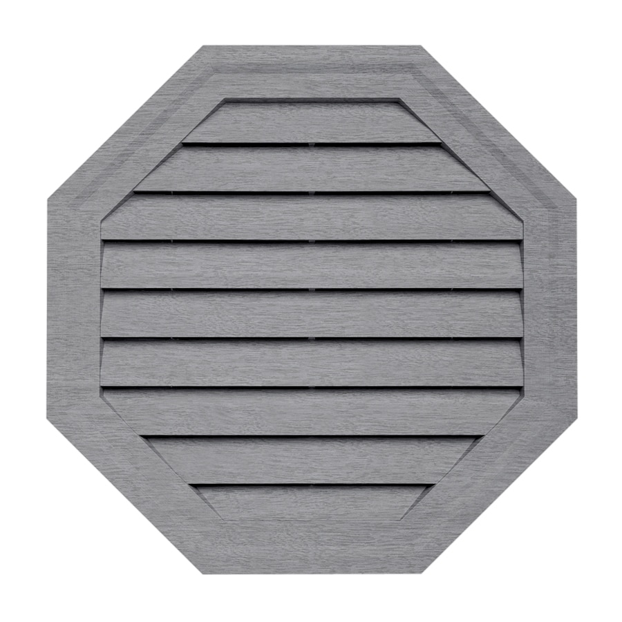 10-in x 15-in Coastal Blue Octagon Vinyl Gable Vent