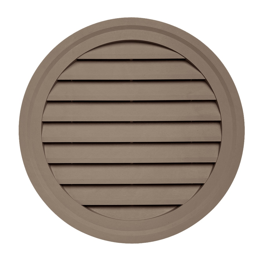 15-in x 10.5-in Hearthstone Brown Round Vinyl Gable Vent