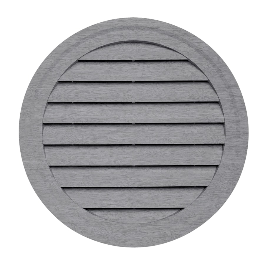 15-in x 10.5-in Coastal Blue Round Vinyl Gable Vent