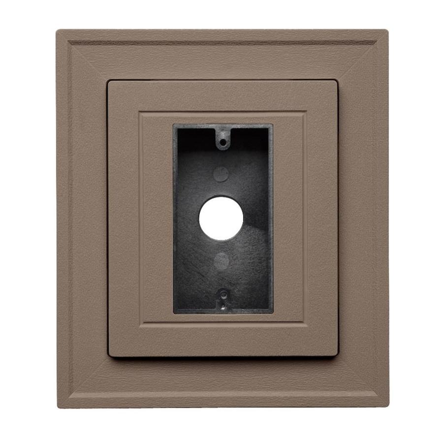 8.5-in x 7.5-in Hearthstone Brown Vinyl Electrical Mounting Block