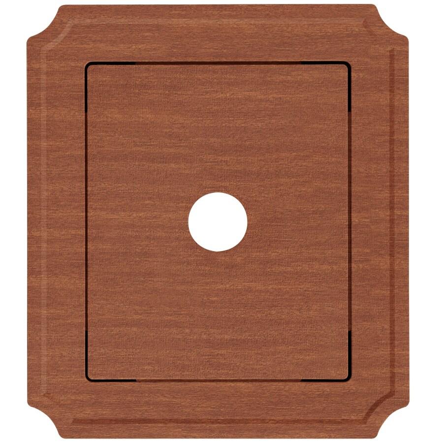 8.54-in x 7.52-in Redwood Vinyl Universal Mounting Block