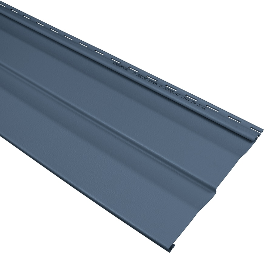 Compass 9-in x 145-in Bayou Blue and Wood Grain Double 4.5 Dutch Lap Vinyl Siding Panel