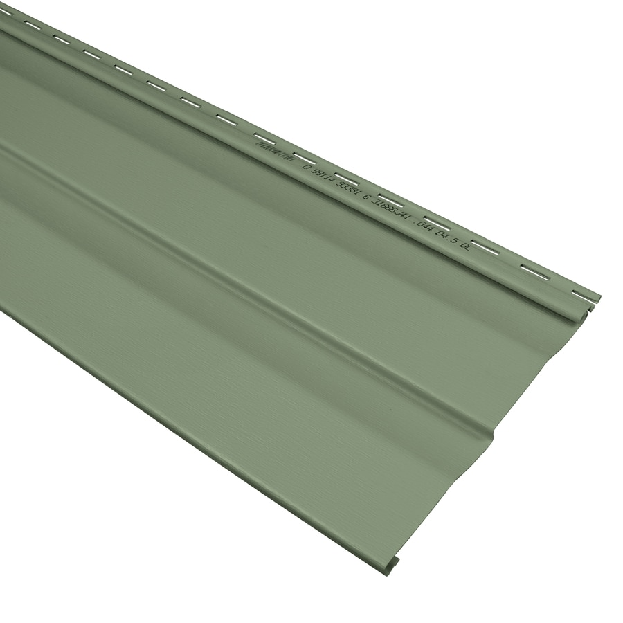 Compass 9-in x 145-in Palm and Wood Grain Double 4.5 Dutch Lap Vinyl Siding Panel