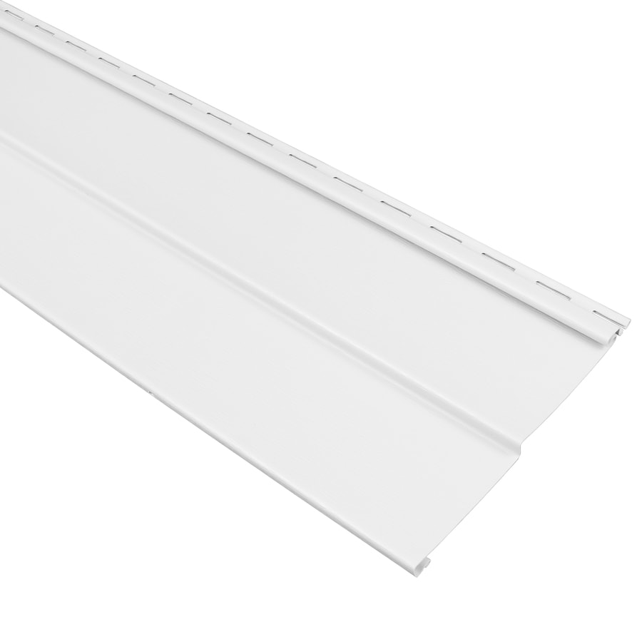 Compass 8-in x 150-in White and Wood Grain Double 4 Traditional Vinyl Siding Panel
