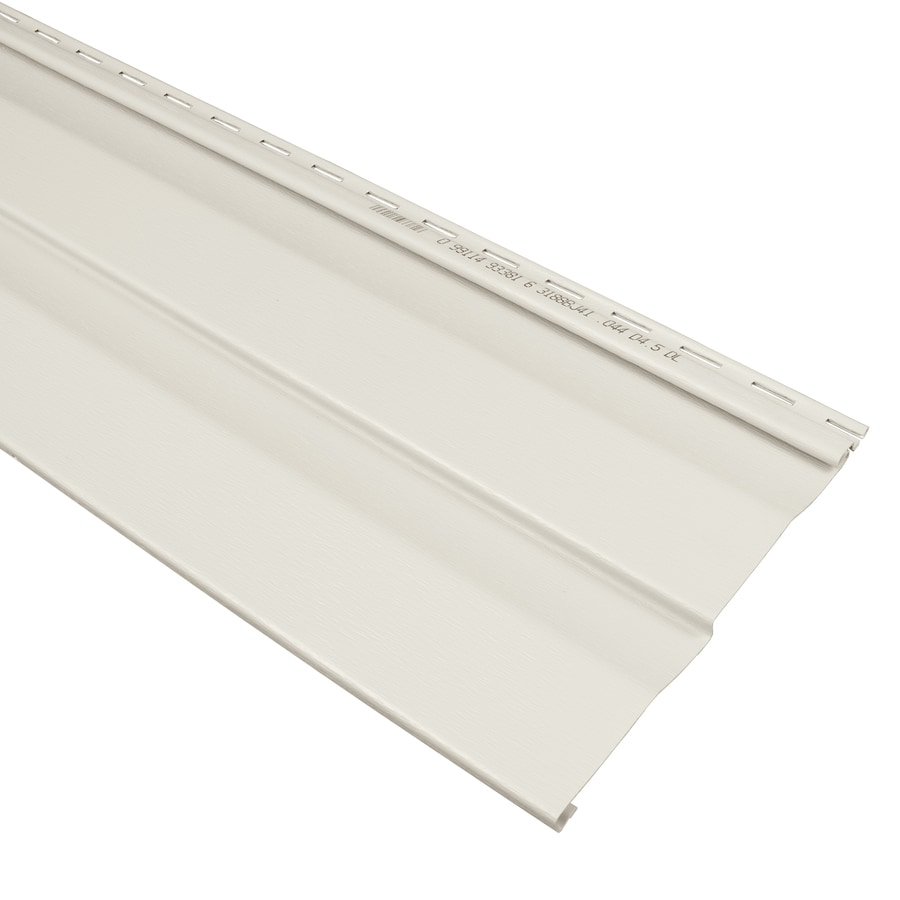 Compass 9-in x 145-in Pearl and Wood Grain Double 4.5 Dutch Lap Vinyl Siding Panel