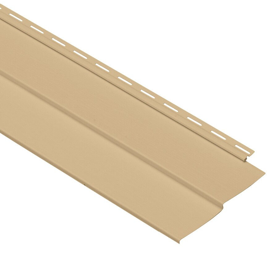 Georgia-Pacific Vinyl Siding Forest Ridge 8-in x 150-in Hazelnut and Wood Grain Double 4 Traditional Vinyl Siding Panel
